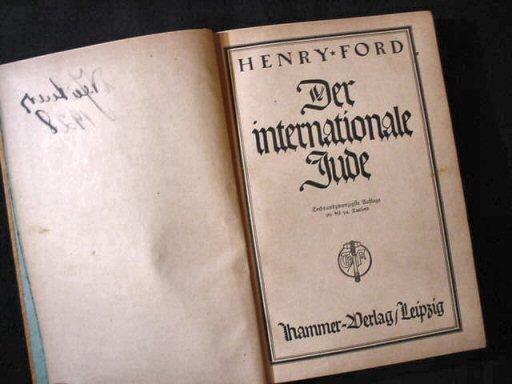 """Titelblatt der deutschen Ausgabe von """"The International Jew"""""""